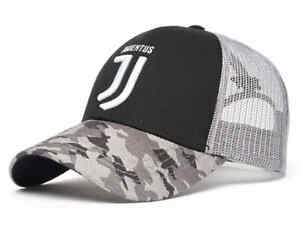 "Juventus FC ""Camo"" trucker cap hat, black/gray"