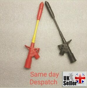 1 Pair Insulated Quick Piercing Test Needle Hook Clips Multimeter Testing Probes