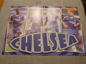 Signed Frank Lampard Chelsea Football Magazine Poster