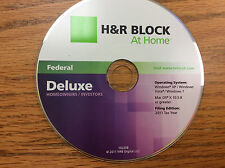 H&R Block 2011 Deluxe Federal Only No state. Formerly called TaxCut.