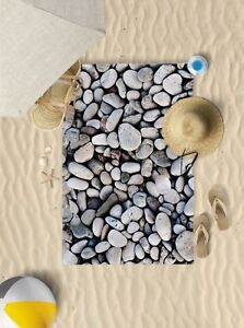 "58""x39"" Pebbles design microfibre beach towel pool sun bathing towel"