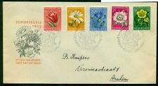 NETHERLANDS #B238-42 Flowers Official FDC, Complete set, NVPH $190.00