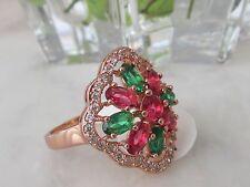 Ovale Echte Edelstein-Ringe mit Smaragd für Damen