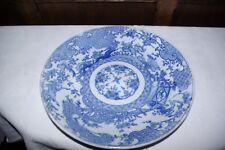 "Antique Chinese Porcelain 12"" Charger Plate Foo Fu Lion Dog Exotic Birds Kangxi"