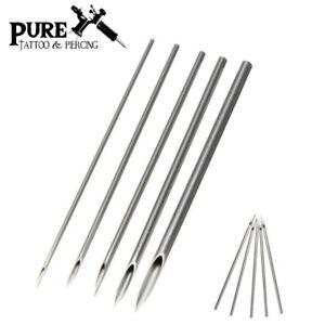 BODY PIERCING NEEDLES - Sterile Stainless Steel Ear Piercing Sizes: 6G - 20G