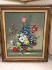 Stunning Late Deco Still Life Lg 20x24 Painting~Listed Artist Nancy Lee~Estate
