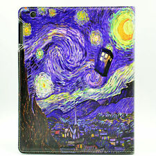 Tardis Doctor Who Starry Night Leather Flip Stand Case For Apple ipad 2 3 4