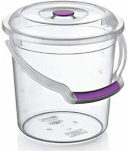 Bucket with Lid and Carry Handle 5/10/15/20 Litres Transparent