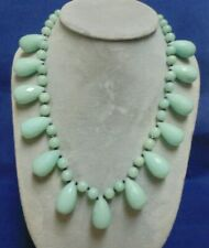 """AWESOME AMAZONITE AND SPINEL .925 STERLING SILVER 19"""" - 20 1/4"""" NECKLACE"""