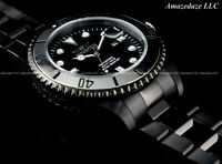 NEW Invicta Men's 200 Meters BLACK Stainless Steel PRO DIVER 47 mm Watch !!