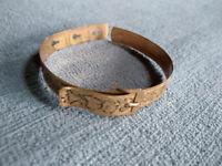 ANTIQUE VICTORIAN EDWARDIAN GOLD FILL ENGRAVED Belt BUCKLE BANGLE CUFF BRACELET