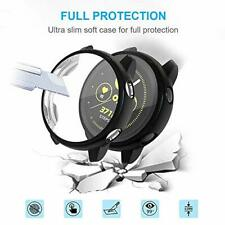 2 Pack Samsung Galaxy Watch Active Case TPU Cover Bumper Full Protection Black