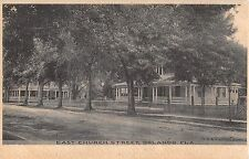 c.1910 Homes East Church St. Orlando FL post card Albertype