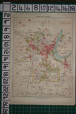 ANTIQUE INDIA MAP ~ AGRA CITY PLAN CANTONMENT JAIPUR HOUSE DELHI GATE FORT