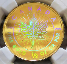 2001 GOLD CANADA $20 HOLOGRAM MAPLE LEAF NGC SPECIMEN PROOF 68 ONLY 600 MINTED