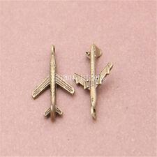 20pc Antique Bronze Charms plane Pendant Bead accessories wholesale  PL478