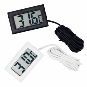 AQUARIUM LCD DIGITAL THERMOMETER FOR FISH TANK WATER FRIDGE FREEZER TEMPERATURE