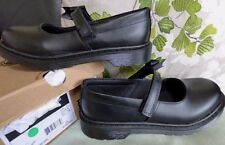 Dr Martens girls 5 38 Maccy black leather school shoe & bow NEW airwair shoes