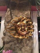 """Metall-Hänger """"Flammende Sonne"""", groß Fenster Deko zum Aufhängen neu OVP Garten"""