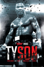 MIKE TYSON-BOXING RECORD 24X36 POSTER DECOR WALL ART FIGHTING ICONIC AMERICAN!!!