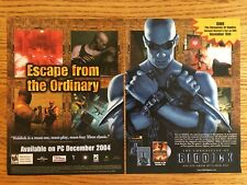 The Chronicles of Riddick Xbox 2004 Vintage Poster Ad Print Art Dvd Bluray Rare