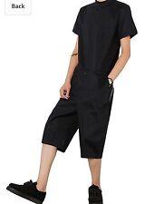 Hot Mens Coveralls Jumpsuit Overalls Casual Black Zipper Short Sleeve Work Pants