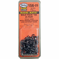 Kadee #156-25 Bulk Pack (25 Pair ) #156 Scale Whisker Metal Couplers HO Scale