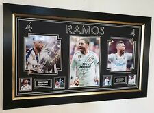 NEW Sergio Ramos Signed Photo Autographed Picture Display AFTAL DEALER COA