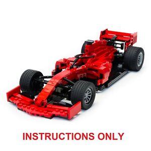 LEGO Ferrari SF90 Formula 1 F1 Race Car - CUSTOM INSTRUCTIONS ONLY