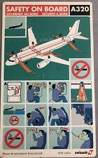 Swissair A320 Safety Card