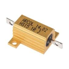 1 x Arcol Aluminium Housed Axial Panel Mount Resistor HS15 1R J, 1Ω ±5% 15W