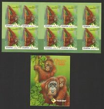 SINGAPORE 2001 CARE FOR NATURE ORANGUTANS BOOKLET OF 10 STAMPS SC#984a IN MINT