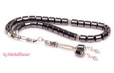 REAL Hematite Stone Islamic Prayer 33 beads Tasbih Misbaha Rosary Tasbeeh 7mm