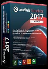 Audials Tunebite 2017 Platinum  Version CD/DVD  Neu & OIVP
