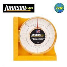Johnson goniometro magnetico angolo & livello di collocazione 0-90 gradi scanalatura a V jl700