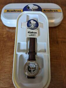 Vintage Peanuts: Armitron Snoopy Wrist Watch / w Original Box/Limited Edition 🔥