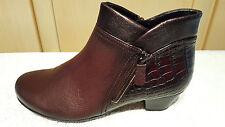Ankle Boots Stiefeletten Gabor bordeaux Gr. 3,5 = Gr. 36 Neu