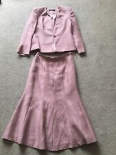JACQUES VERT LIGHT PINK VISCOSE JACKET AND SKIRT OUTFIT LOVELY CONDITION