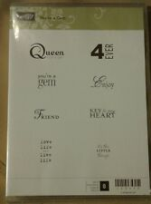Stampin Up YOU'RE A GEM Stamp set of 8 Birthday Christmas NEW unused Unmounted