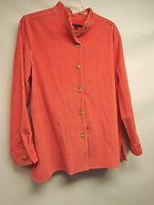 WOMEN~CHADWICKS~ ORANGE/CORAL STRETCH SOFT CORDUROY Jacket/blazer/top SZ XL-NEW