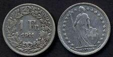 SWITZERLAND 1 Franc 1911 AG