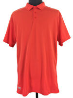 Fila Sport Mens Athletic Fit Orange Short Sleeve Golf Polo Shirt Size 2XL XXL
