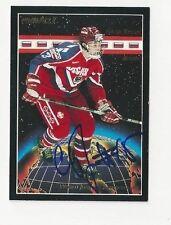 1994 Pinnacle Autographed Hockey Card Sergei Brylin Team Russia