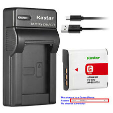 Kastar Battery Slim USB Charger for Sony NP-BG1 NP-FG1 & Sony Cyber-shot DSC-W80