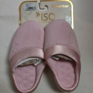 NWT Isotoner PillowStep Pink Slippers Women's Small 6.5-7 Slip-On Closed Toe