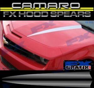 2010 - 2013 Chevrolet Camaro Hood Spears Stripe Kit Dealer Quality Stripes
