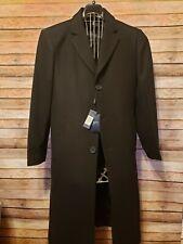 NEW Braveman Men's Single Breasted Wool Blend Dress Coat 3 Button Black - Small