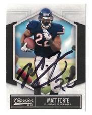 Matt Forte Signed Autographed 2010 Panini Card Chicago Bears