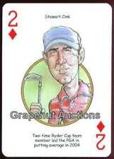 STEWART CINK RYDER CUP PGA TOUR MAJOR OPEN CHAMPION SINGLE PLAYING SWAP CARD