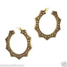 Hoop earrings 14kt plated double sided Belle Noel Kim Kardashian Gypsy Chic